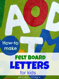 how to make felt letters for kids the simple way applegreen