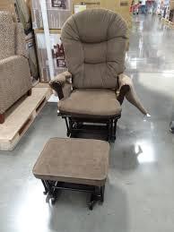 Ottoman Glider Rocker Furniture Organization Costco Taupe Upholstered Glider Rocker