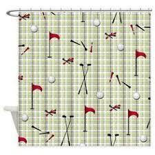 Golf Curtains Fabric Golf Shower Curtain Golfer Theme Decor Bathroom Made W