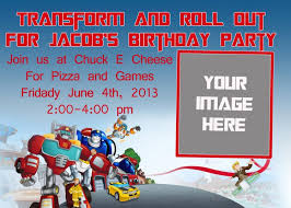 template printable transformer birthday invite with high