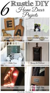 Diy Home Decorating Projects 6 Diy Rustic Home Decor Items Friday Features Domestically