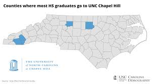 Unc Map College Bound Nc Counties And Unc Attendance Carolina