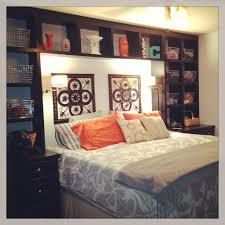 17 Headboard Storage Ideas For Your Bedroom Bedrooms Spaces And by Best 25 King Size Bed In Small Room Ideas On Pinterest Fun Bunk