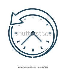 back arrow around clock vector icon stock vector 618847916