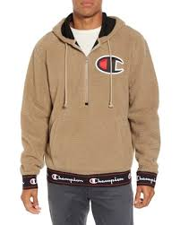 amazing deal on men u0027s champion teddybear fleece half zip hoodie