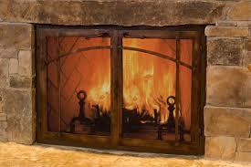 fireplace screens with glass doors fleshroxon decoration