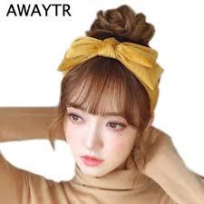 big bows for hair awaytr velvet hairband for women hair accessories bezel