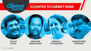 Portfolio Of Cabinet Ministers New Entrants In The Cabinet Sitharaman Goyal Pradhan And Naqvi