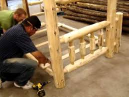 The Log Furniture Store Our Bunk Bed Assembly YouTube - Log bunk beds