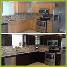 wood stain kitchen cabinets staining kitchen cabinets darker before and after www