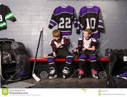 hockey arena boys in rink dressing room stock photo image 46570357