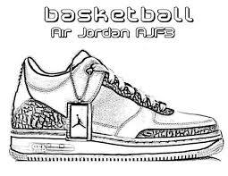 jordan shoes coloring pages printable of jordan coloring pages
