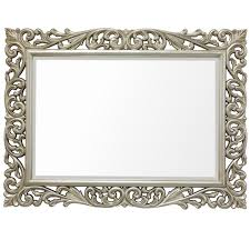 Bevelled Mirror Silver Lattice Scroll Bevel Mirror U2013 Mirrors Ie