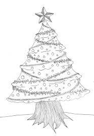 christmas tree sketch pencil drawing pencil drawings of trees