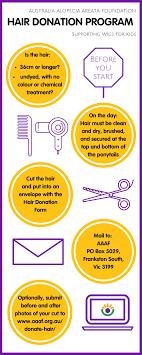 donate hair donate hair australia alopecia areata foundation