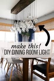 Dining Room Table Light Diy Multi Bulb Dining Room Chandelier Renovations