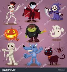 vintage halloween character design stock vector 313671266