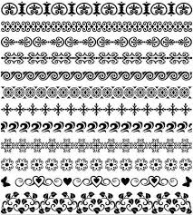 vintage ornamental borders 25 ai format free vector