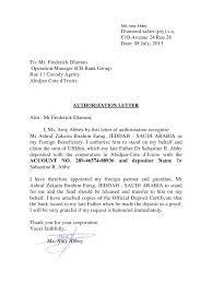 Authorization Letter For Bank Deposit Format miss sarah bamba authorization letter pdf pdf archive