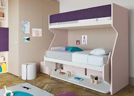 Bunk Bed With Pull Out Bed Nidi Tippy Loft Bed With Pull Out Bed U0026 Desk Nidi Kids Furniture