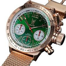 gold bracelet mens watches images Konigswerk men 39 s watch rose gold bracelet green dial jpg