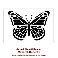monarch butterfly stencil for walls butterfly stencils for