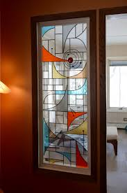 Mid Century Modern Window Trim by Mid Century Modern Stained Glass Window Stained Glass Art
