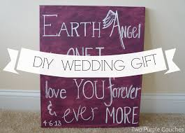 best friend wedding gift diy wedding gift lyrics on canvas two purple couches