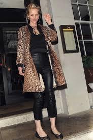 eva herzigova wearing leather pants leather skinny pants