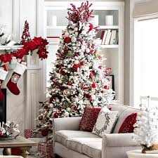 large christmas open plan living space decor ideas