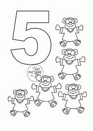 number 5 coloring page exprimartdesign com