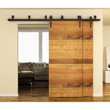 5 8ft rustic interior doors bypass sliding barn wood door hardware