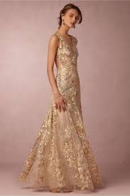 gabriela gown gold in bride bhldn