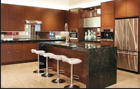 kitchen dark color countertop with island with sink also virtual