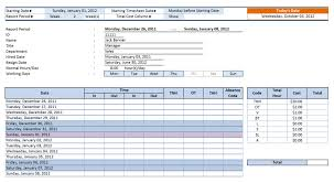 Daily Timesheet Template Excel Employee Timesheet Template