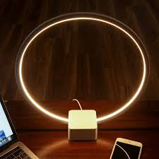 Table Lamps With Outlets In Base Brightech Store Circle Led Table Lamp U2013 Bright Orb Of Light With