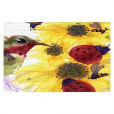 Ladybug Area Rug Unique Area Rugs Derman Sunflowers Ladybugs Dianoche