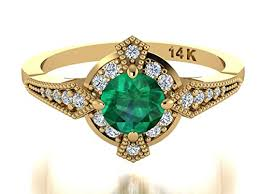 rings emerald images Antique style rings natural emerald ring edwardian era inspired jpg
