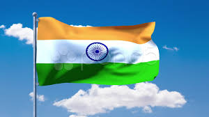 Image Indian Flag Download Video Indian Flag Waving Over A Blue Cloudy Sky 26126719