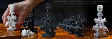 Unique Chess Set Unique Surreal Fractal Chess Set Shapeways 3d Printing Forums
