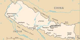 map of nepal and india as a river changed its course a on the india nepal border