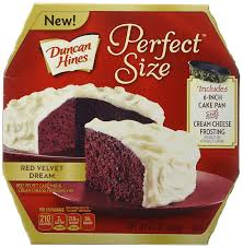 amazon com duncan hines perfect size cake mix red velvet dream