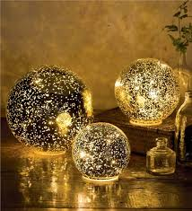 glass lights soft lit glass balls wind weather