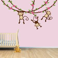 Nursery Monkey Wall Decals Monkey Wall Decals For Nursery Design Idea And Decorations