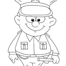 drawings police officer coloring pages model tablet
