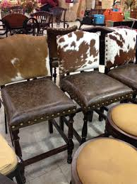 Leather Animal Ottoman by Bar Stools Cowhide Bar Stools With Backs Animal Hide Bar Stools