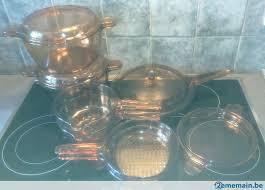 cuisine en batterie de cuisine batterie de cuisine en verre fumé pyrex a vendre 2ememain be