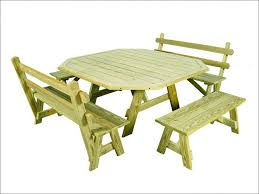 Wooden Picnic Tables With Separate Benches Exteriors Fabulous 8 Foot Picnic Table Steel Frame Picnic Table