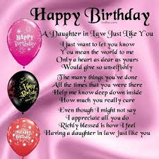 Happy Birthday Wishes To A Great Best Quotes Birthday Wishes For Daughter In Law Greetings