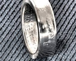 52nd wedding band 1969 jfk kennedy us half dollar coin ring wedding band 40